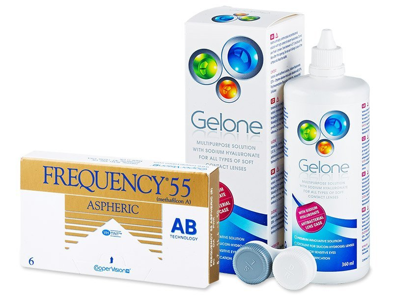 Frequency 55 Aspheric (6 Lentillas) + Líquido Gelone 360 ml
