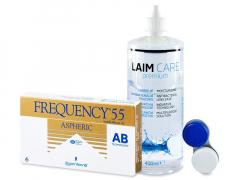 Frequency 55 Aspheric (6 Lentillas) +LíquidoLaim-Care400ml