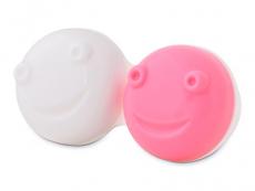 Estuche para limpiador de lentillas vibratorio - rosa