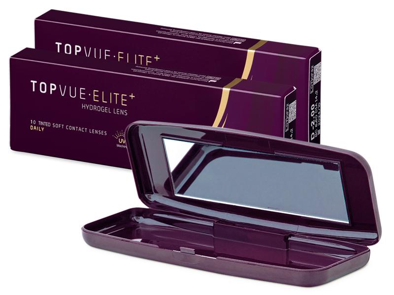 TopVue Elite+ (10 pares) + Estuche para lentillas TopVue Elite