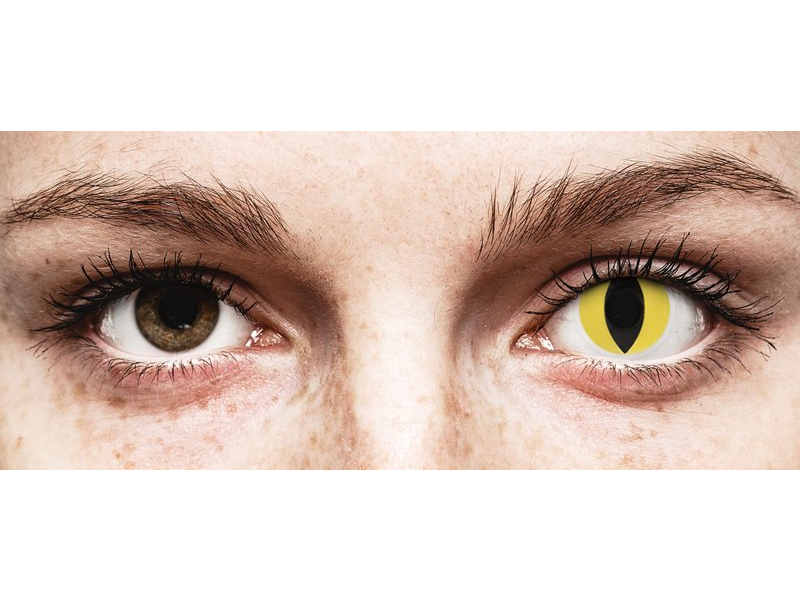 Amarillo Cat Eye lentillas ColourVUE Crazy Lens (2 lentillas)