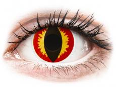 Rojo Amarillo Dragon Eyes lentillas ColourVUE Crazy Lens (2 lentillas)
