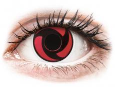 Rojo Mangekyu lentillas ColourVUE Crazy Lens (2 lentillas)