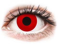 Rojo Red Devil lentillas ColourVUE Crazy Lens Graduadas (2 lentillas)