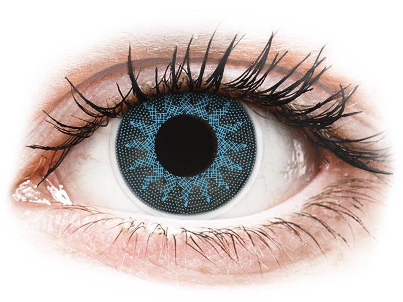 Azul Solar Blue lentillas ColourVUE Crazy Lens Graduadas (2 lentillas)