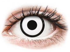 ColourVUE Crazy Lens - White Zombie - Diarias sin graduación (2 Lentillas)