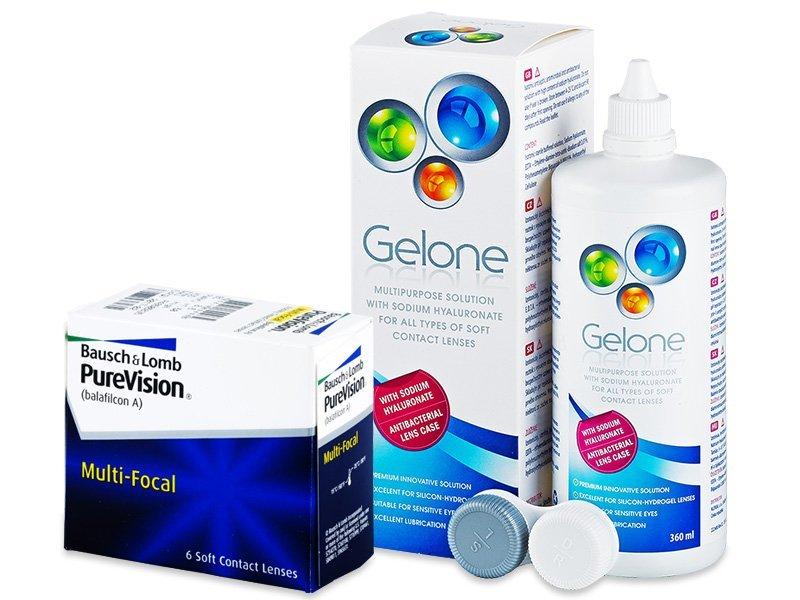 PureVision Multi-Focal (6 Lentillas) +LíquidoGelone 360 ml