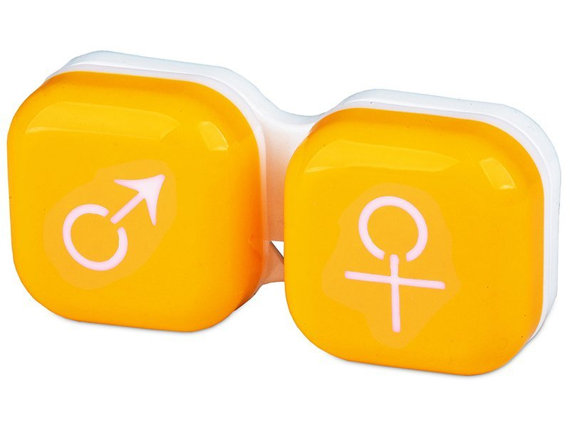 Estuche de lentillas Hombre y mujer - Amarillo