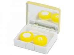 Estuche de lentillas elegante - amarillo