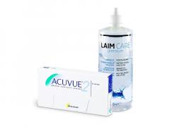 Acuvue 2 (6 lentillas) + Líquido Laim-Care 400 ml