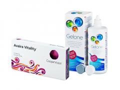 Avaira Vitality (6 lentillas) + Líquido Gelone 360 ml