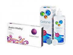 Avaira Vitality Toric (3 lentillas) + Líquido Gelone 360 ml