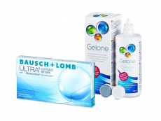 Bausch + Lomb ULTRA (3 lentillas) + Líquido Gelone 360 ml