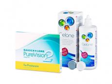 PureVision 2 for Presbyopia (3 lentillas) + Líquido Gelone 360 ml