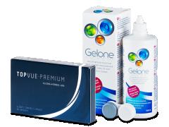 TopVue Premium (6lentillas) +Líquido Gelone 360ml