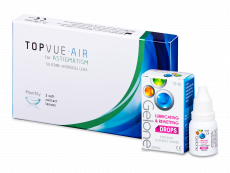 TopVue Air for Astigmatism (3 Lentillas) + Gotas Gelone 10 ml