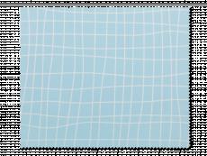 Paño de limpieza para gafas - azul claro con diseño grid