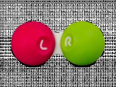 Estuche para lentillas - Rosa y verde