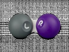 Estuche para lentillas - Gris y púrpura