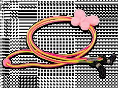 Cordón para gafas en rosa y amarillo - mariposa