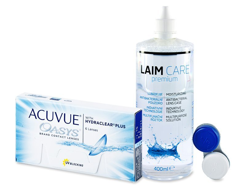 Acuvue Oasys (6lentillas) + Líquido LAIM CARE 400ml